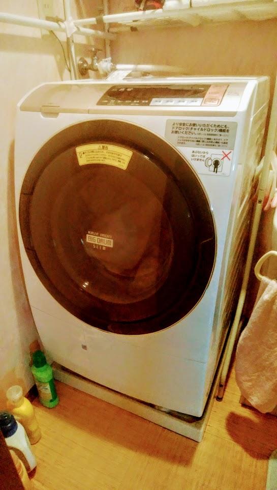 購入した日立(HITACHI)のドラム式洗濯乾燥機BD-SV110ビッグドラム・スリム