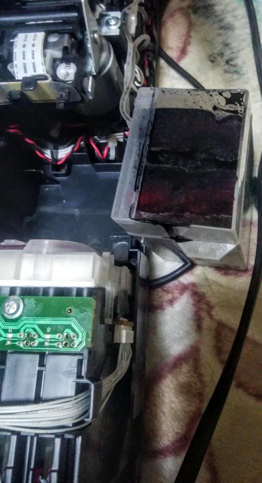 プリンター分解 廃インクパッドタンク