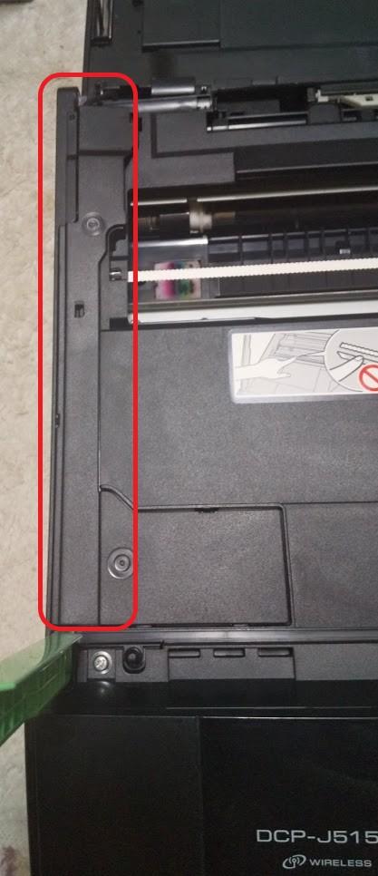 廃インク吸収パッド交換・プリンター分解 スキャナーカバー
